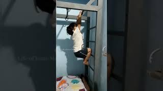 Kid learning to climb Monkey Ladder - 3 | #shorts | Monkey Ladder | Kids videos | Funny kids videos