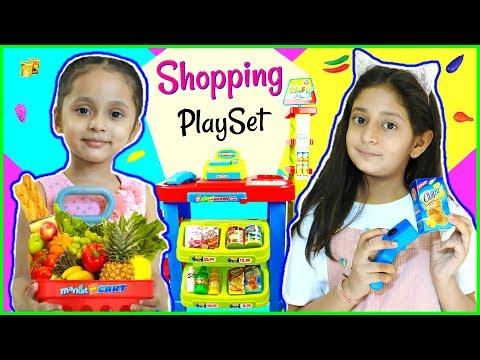 Anantya & Anaya PRETEND PLAY with Shopping Set...   #Toys #Review #MyMissAnand #ToyStars