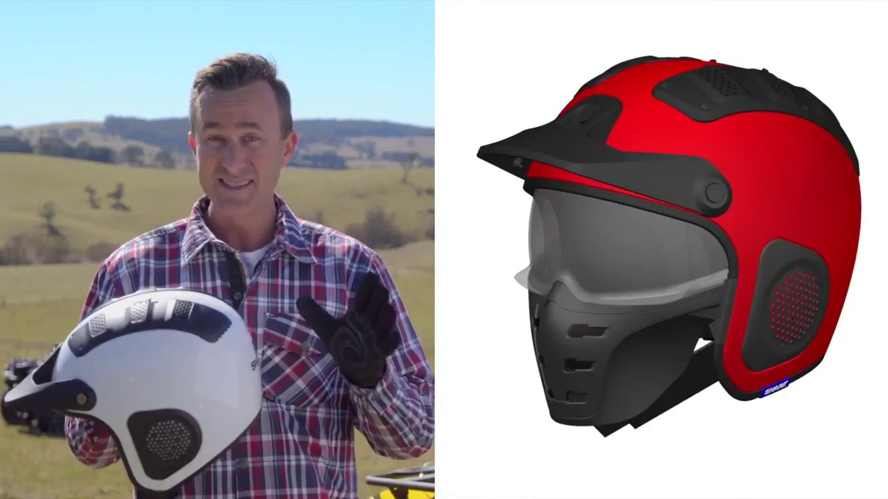 2f8b89b4 Shark ATV Drak Blank Helmet - Motorcycler.com - YouTube