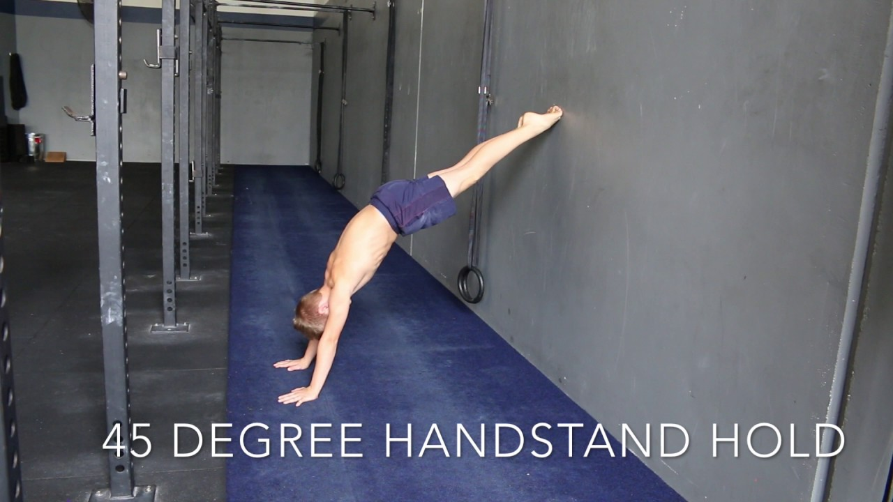 Image result for 45 degree wall facing handstand
