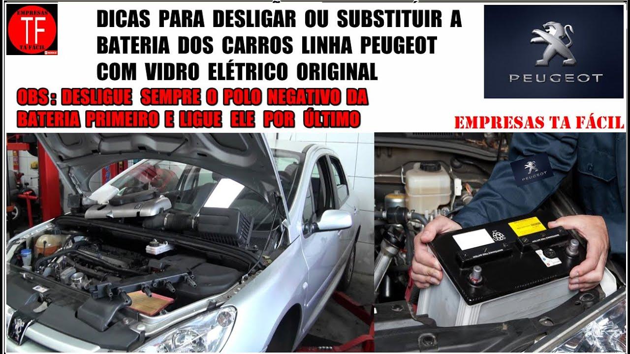 Cuidados Ao Trocar A Bateria De Um Peugeot Com Vidro