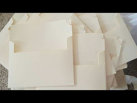 DIY A7 Envelope Tutorial - Wedding Envelopes - Elegant Wedding - 5x7