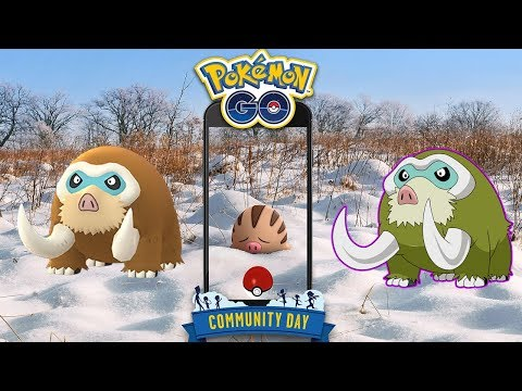 PRÓXIMO COMMUNITY DAY DE MAMOSWINE! NUEVO POKÉMON DE 4 GENERACIÓN! [Pokémon GO-davidpetit] thumbnail