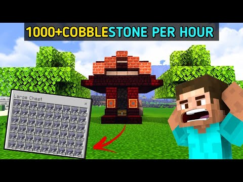 how-to-make-cobblestone-generater-farm-in-minecraft-pe-tutorial-on-android