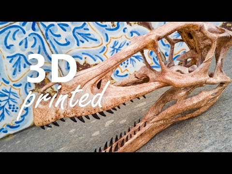 Velociraptor skull 3D printed on Alfawise U20