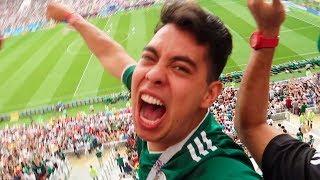 MEXICO VS ALEMANIA - EL MEJOR PARTIDO DE MI VIDA (REACCIONES DESDE RUSIA)