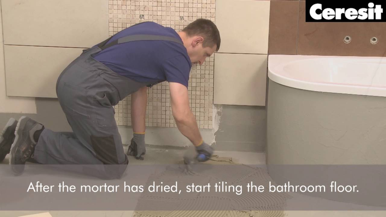 Tiling the floor with electric heating system youtube tiling the floor with electric heating system dailygadgetfo Choice Image