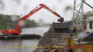 Bardai PLC INDIA -Amphibious Excavator- UNDER WATER - on hire