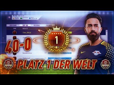 FIFA 18: PLATZ 1 DER WELT! 40-0 FUT CHAMPIONS GAMEPLAY! (118-2)   CIHAN YASARLAR