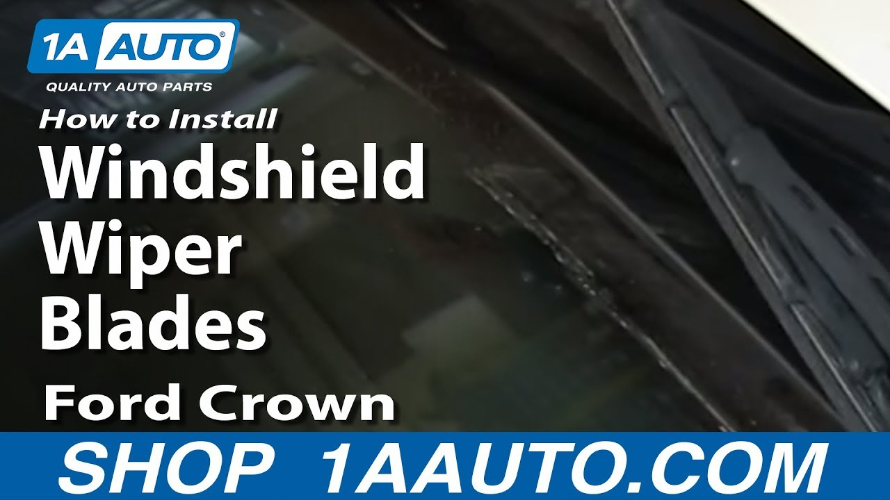 How to install replace windshield wiper blades ford crown victoria