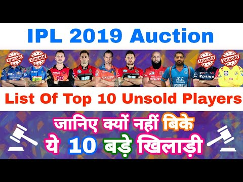 IPL 2019 - List Of Top 10 Unsold Players In IPL Auction | MY Cricket Production Mp3
