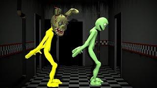 Dame Tu Cosita Dance Alien with Funny Cartoon FNAF UCN SPRINGTRAP ULTIMATE CUSTOM NIGHT  EGG OLD 👽