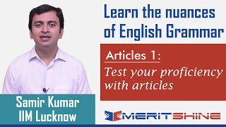 English Grammar 1 - Articles 1 - Test your proficiency with