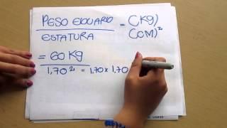 Vídeo tutorial Matemáticas básica, (Calculo de indice de masa corporal).