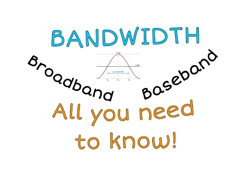 What is bandwidth?  All you need to know
