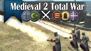 Purple Power - Medieval 2 Total War (2v3 Online Siege Battle #256)