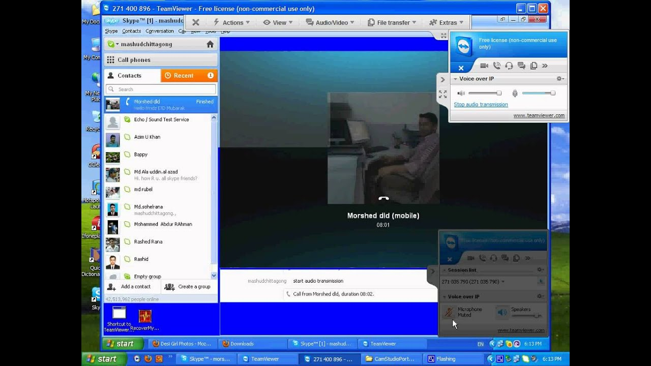 How to voice call over IP through Team Viewer