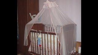 Детская кроватка с балдахином(Очень мило выглядит в детской комнате кроватка с балдахином!Балдахин -это один из способов защитить своего..., 2015-04-15T09:00:02.000Z)