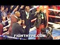 MIKE TYSON, EVANDER HOLYFIELD, & LENNOX LEWIS REUNITE TO WATCH TYSON FURY STOP DEONTAY WILDER