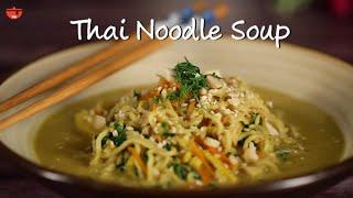 Vegetarian Thai Noodles Soup | How To Make Thai Noodles Soup By Kamini | Quick & Easy Noodles Recipe