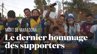 Aux obsèques de Maradona, les fans continuent de chanter pour leur idole