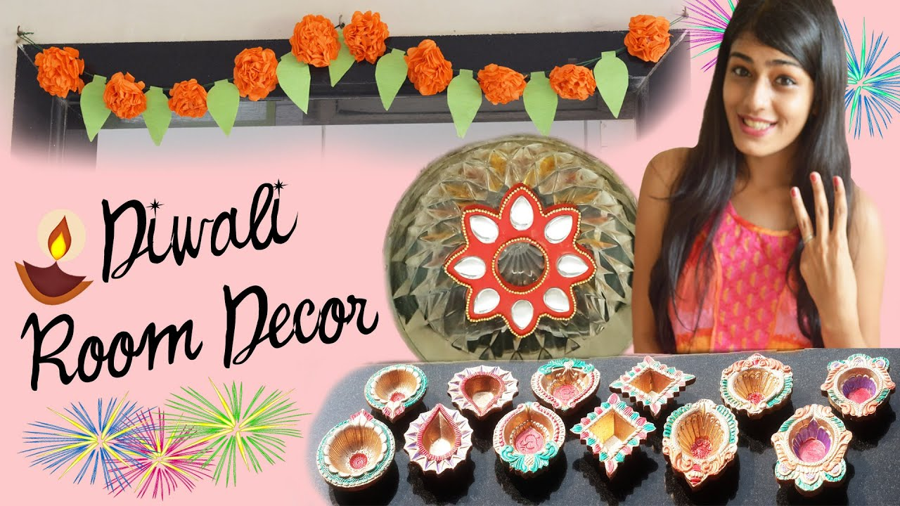 Diy Diwali Room Decor Paper Flowers Floating Kundan
