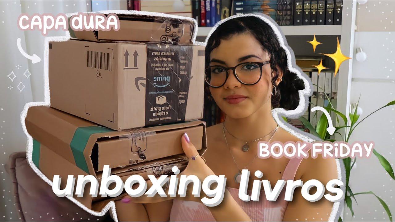 unboxing de livros   capa dura & bookfriday 📦