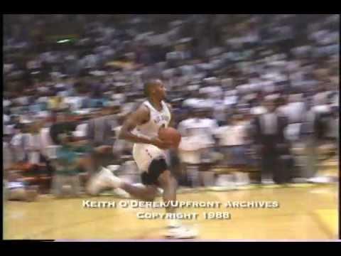 Ron Harper Super Sensational Slam Dunk Over the Laker Girls (Exclusive/Rare) by Keith O