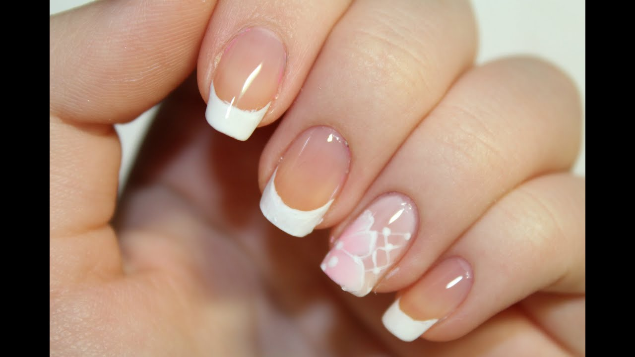 Nail Art Design French Wedding Manicure