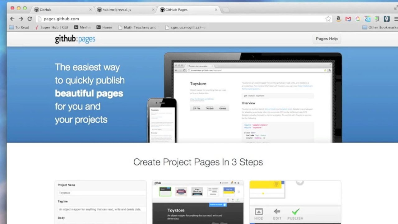 Using Github Pages to host a website (v2)