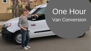 One hour van conversion with Wayfarer Vans Kit