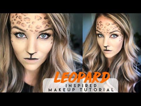 Leopard print halloween makeup tutorial youtube.