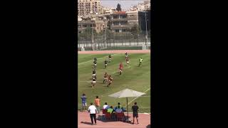 Ahmed Cooper sprint and hand off vs Jordan Rugby .