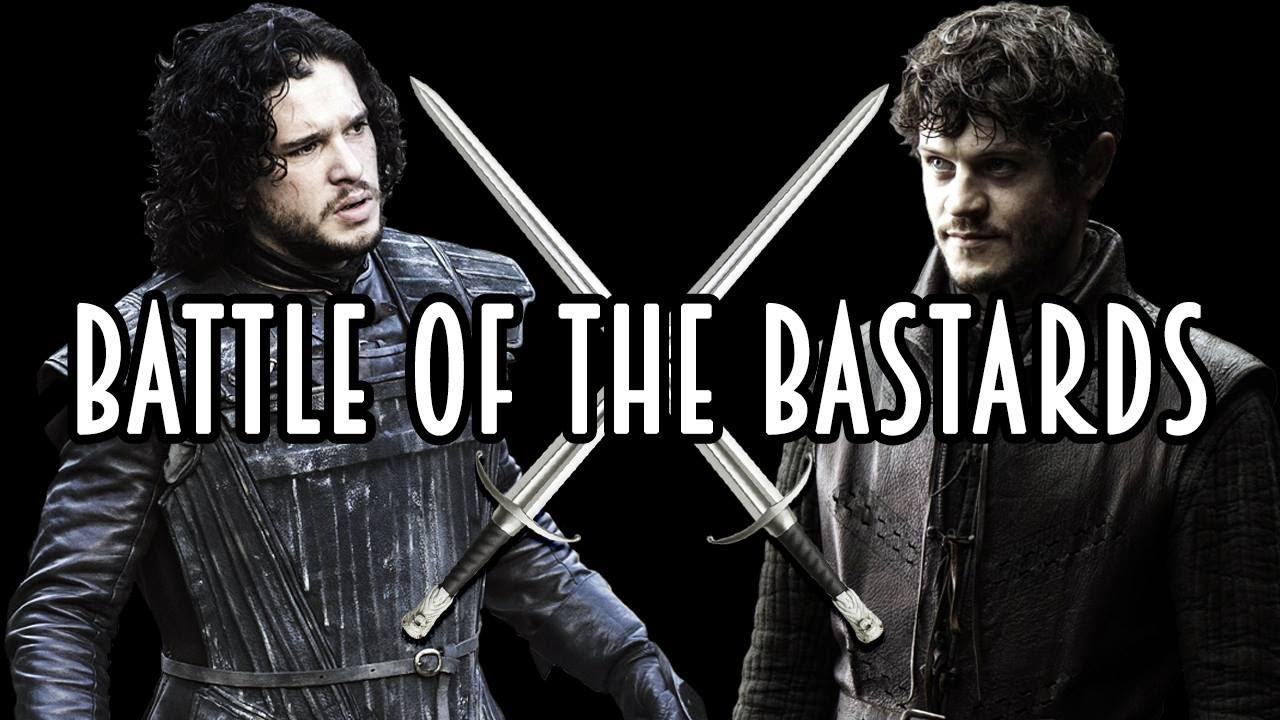 Battle Of The Bastards Jon Snow Vs Ramsay Snow Bolton Battle