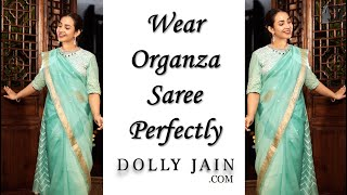 How to wear Organza saree in n…