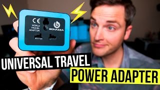 Universal Travel Adapter Review — BONAZZA Dual USB Travel Charger