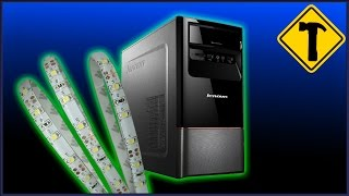 Как подключить светодиодную ленту к компьютеру(Подключение светодиодной ленты к ПК. Музыка взята с сайта: http://audionautix.com/, 2014-11-20T20:03:15.000Z)