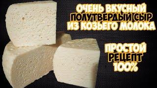 Полутвердый сыр из козьего молока в домашних условиях