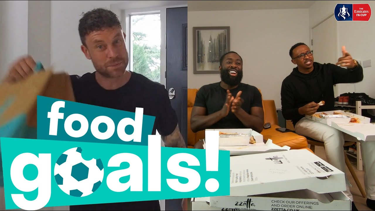 Kojo the Comedian, Wayne Bridge and Fans React to the Quarter-Finals | Food Goals with Deliveroo 🍕⚽️