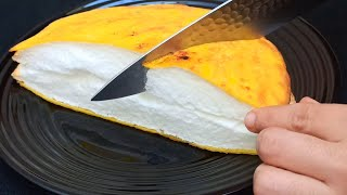 With just one ingredient ..‼ ️ Japanese Omelette / Egg  Recipe 🥚 cooking in the pan