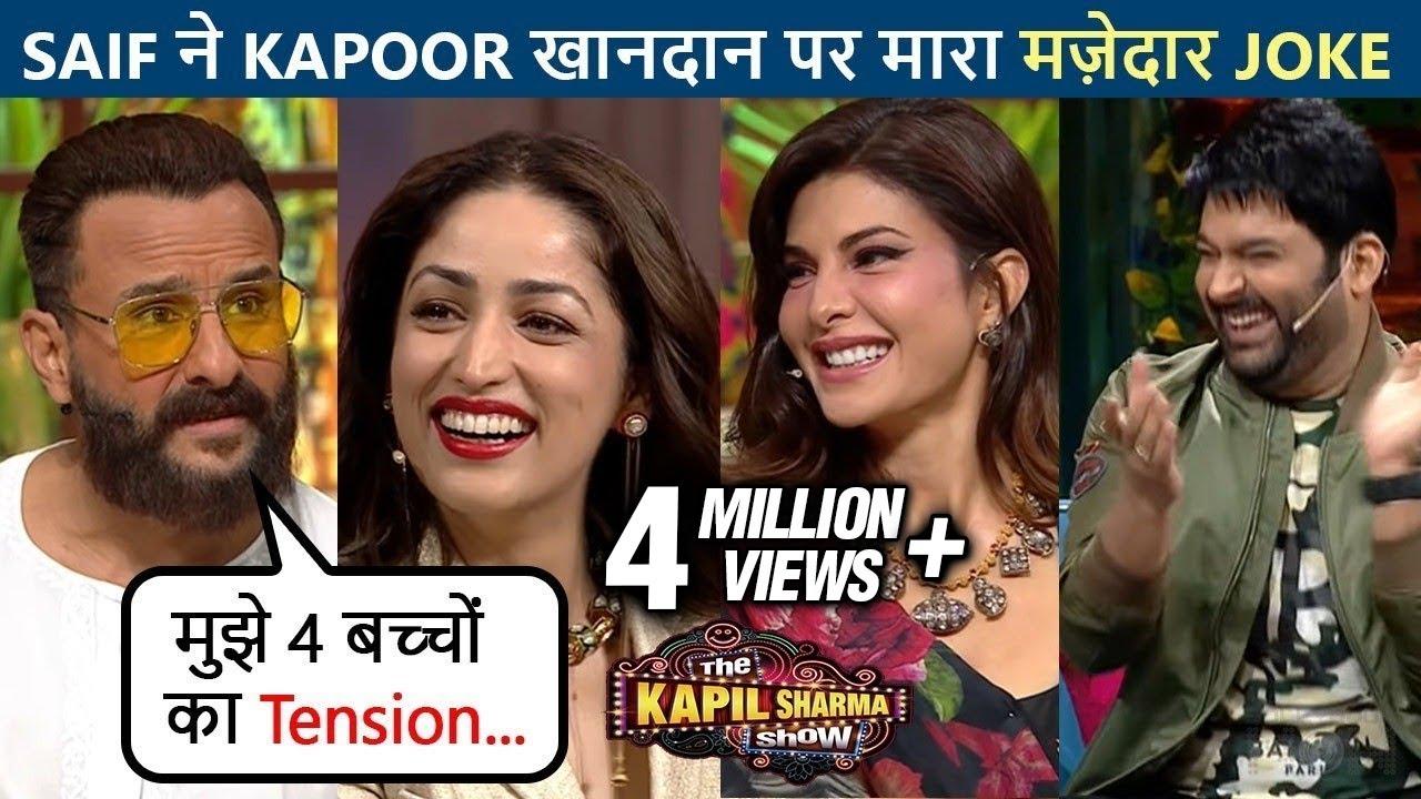 Download OMG! Kapil Sharma Makes Fun Of Yami Gautam's Wedding, Saif Ali Khan-Jacqueline laugh out loud TKSS