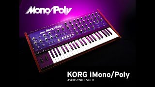 KORG iMono/Poly The BIG Soundtest for the iPad
