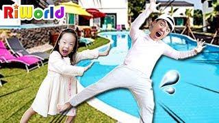 타요 버스 타고 키즈 풀빌라 수영장에 놀러가요!  타요 버스 장난감 놀이  Let's go to swimming pool with TAYO BUS TOY
