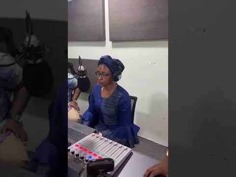 Actress Kate Henshaw Reads News On Lagos Radio Station