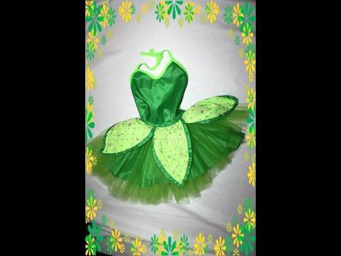 HOW TO Tinkerbell costume easy ! disfraz de campanita Facil