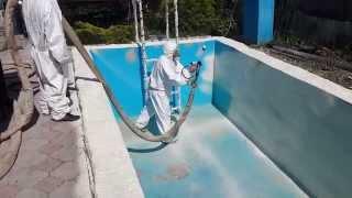 Гидроизоляция бассейна, а после нанесение полимочевины(ТОО