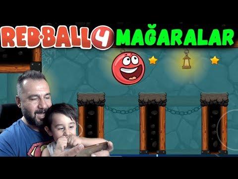 REDBALL 4 MAĞARALAR! | KIRMIZI TOP OYNUYORUZ