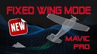 DJI Mavic Pro - Tutorial Fixed WIng - nova função - videoaula drone - Portugues Brasil