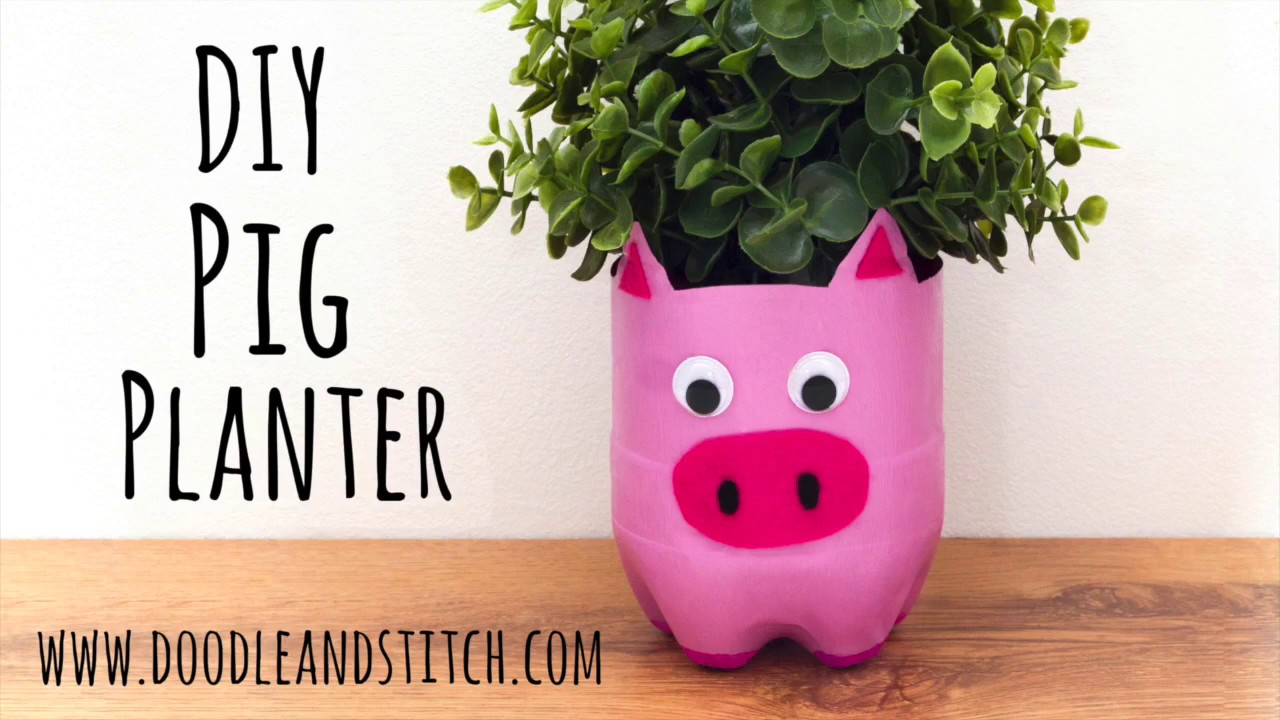 Diy Craft Make A Pig Plant Pot From A Plastic Bottle