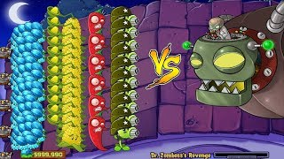 Plants vs Zombies Hack   Gatling Pea, Winter Melon, Janapeno vs Dr. Zomboss
